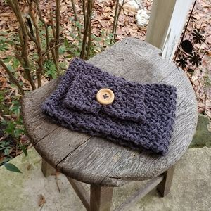 Handmade bow headband/earwarmers